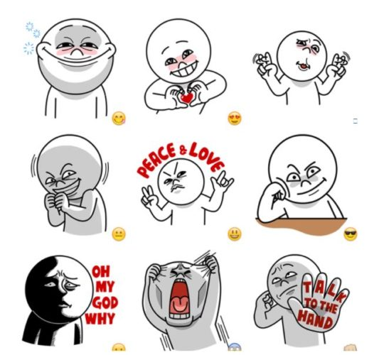[Line] Moon Funny Faces